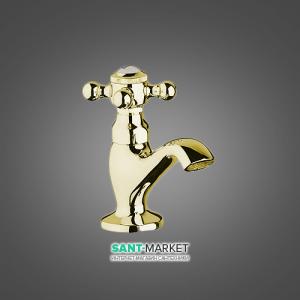 Смеситель для раковины одновентильный Kludi коллекция Adlon золото 510144520