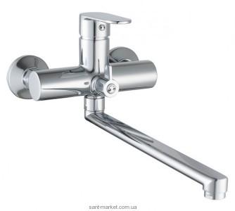 Смеситель однорычажный для ванны с длинным изливом Imprese коллекция Lesna хром 35070