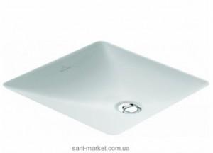 Раковина для ванной встраиваемая Villeroy & Boch коллекция Loop & Friends белая 61622001