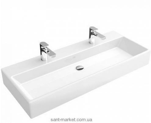 Раковина для ванной подвесная двойная Villeroy & Boch коллекция Memento белая 5133C501
