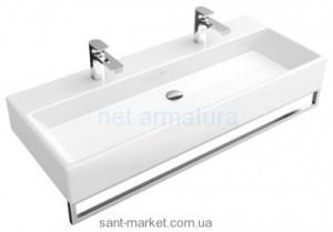 Раковина для ванной подвесная двойная с вешалкой Villeroy & Boch коллекция Memento белая 5133A401