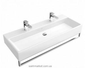 Раковина для ванной подвесная двойная с вешалкой Villeroy & Boch коллекция Memento белая 5133A201
