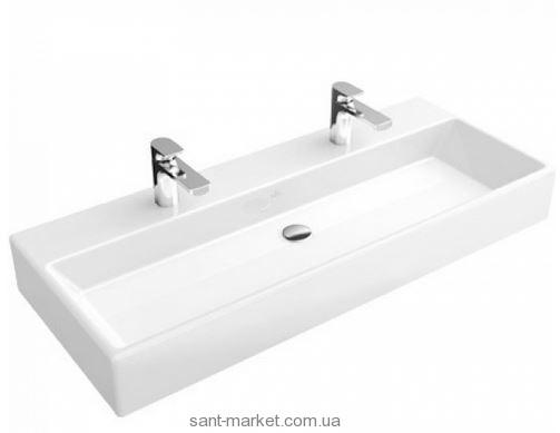 Раковина для ванной подвесная двойная Villeroy&Boch коллекция Memento белая 5133C201