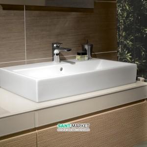 Раковина для ванной подвесная с вешалкой Villeroy & Boch коллекция Memento белая 5133A101