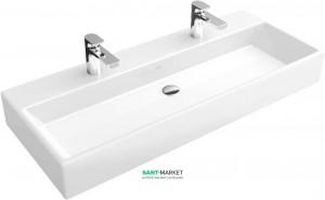 Раковина для ванной подвесная двойная Villeroy & Boch коллекция Memento белая 5133AG01