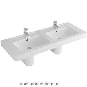 Раковина для ванной подвесная двойная Villeroy & Boch коллекция Omnia Architectura белая 61311309
