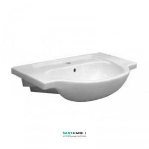Раковина для ванной подвесная умывальник-столешница KOLO коллекция Nova Top белая 61970