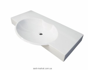 Раковина для ванной на тумбу умывальник-столешница Буль-Буль коллекция Carme белая 3410101