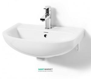 Раковина для ванной подвесная полукруглая Svedbergs коллекция Twin белая 9091