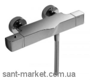 Смеситель для душа двухвентильный с термостатом Tres Cub-Tres с душевым набором хром 1871649