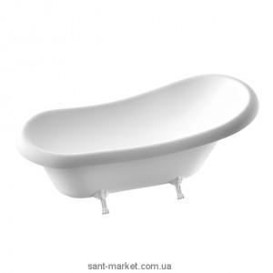 Ванна мраморная отдельностоящая Буль-Буль Lady Hamilton 173x82.5x64.5 белая Ванна + ноги