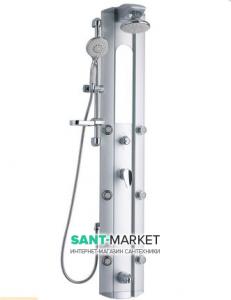 Гидромассажная панель Q-tap QT SIL-1101 25х154 алюминиевая серебристая QT SIL-1101