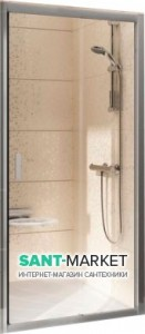 Душевая дверь в нишу Ravak Blix BLDP2 стеклянная раздвижная 110х190 0PVD0C00Z1