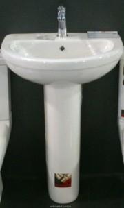 Раковина для ванной на пьедестал с пьедесталом Volle коллекция Fiesta белая 13-75-022+13-76-002