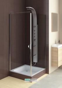 Душевая дверь в нишу Aquaform Glass 5 стеклянная распашная 90х185 06371