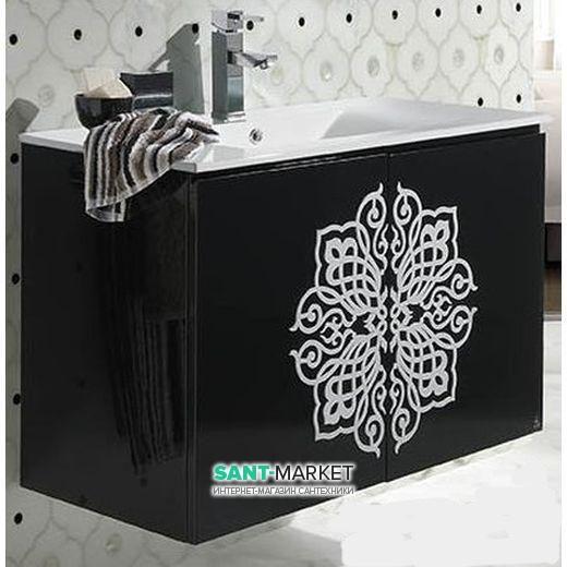 bretta Тумба с раковиной Bretta Segura подвесная черный GD0180WB + G3005001