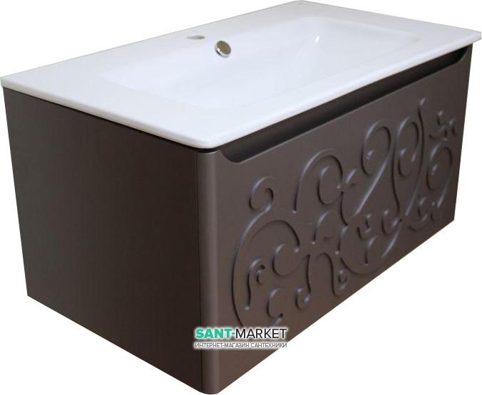 bretta Тумба с раковиной Bretta Turia подвесная шоколад MC0180CH + G3005001