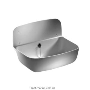 Мойка для кухни прямоугольная Sanit Multiset 49.5х34.5 на стену (настенная)  пластик  белая 60.001.01.0000