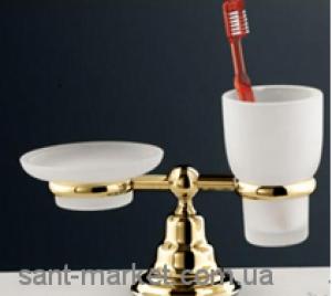 F.L.A.B CANOVA Держатель мыльницы/стакана настольный матовое стекло, золото 349ORO*