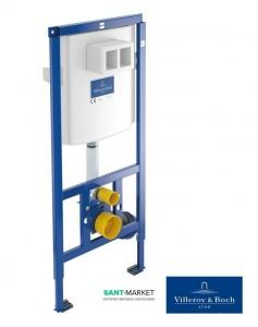 Система инсталляции для подвесного унитаза Villeroy & Boch ViConnect 2в1 52,5х112х13,5 92246100