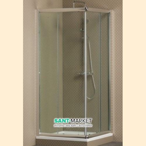 Душевая дверь в угол Villeroy&Boch Frame to frame стеклянная распашная 90х195 UDW9090SKA130V-61