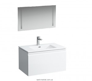 LAUFEN Pro-S Тумба с умывальником+ Laufen зеркало 80*50 см с подсветкой 8609634751041+4472319961441