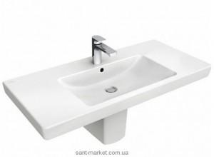 Раковина для ванной подвесная умывальник-столешница Villeroy & Boch коллекция Subway 2.0 белая 7175A001