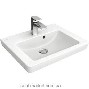 Раковина для ванной на тумбу Villeroy & Boch коллекция Subway 2.0 белая 73155GR1