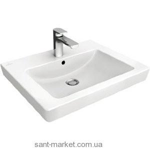 Раковина для ванной на тумбу Villeroy & Boch коллекция Subway 2.0 белая 7113FC01