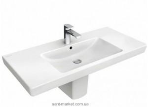 Раковина для ванной подвесная умывальник-столешница Villeroy & Boch коллекция Subway 2.0 белая 7175A101
