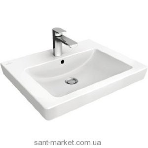 Раковина для ванной на тумбу Villeroy & Boch коллекция Subway 2.0 белая 7113F101