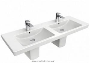 Раковина для ванной подвесная двойная Villeroy & Boch коллекция Subway 2.0 белая 7175D101