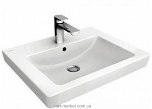 Раковина для ванной на тумбу Villeroy & Boch коллекция Subway 2.0 белая 71136H01