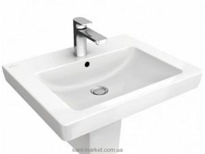 Раковина для ванной подвесная Villeroy & Boch коллекция Subway 2.0 белая 71135501