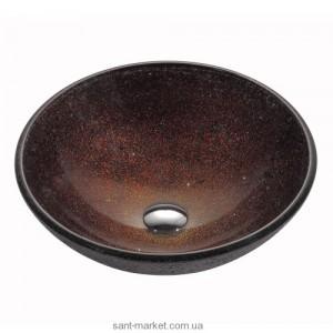 Раковина для ванной накладная Kraus коричневая GV-570-12mm