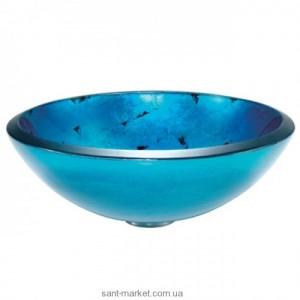 Раковина для ванной накладная Kraus голубая GV-204-19mm