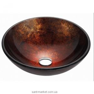 Раковина для ванной накладная Kraus бордово-черная GV-683-12mm