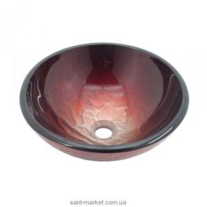 Раковина для ванной накладная Kraus красная GV-692-19mm