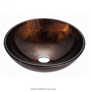 Раковина для ванной накладная Kraus коричневая GV-684-12mm