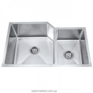 Мойка для кухни асимметричная (нестандартная) Kraus, 1.5 чаши, под столешницу, нержавеющая сталь, хром KHU-123-32