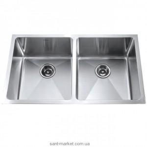 Мойка для кухни прямоугольная Kraus, 2 чаши, под столешницу, нержавеющая сталь, хром KHU-102-33