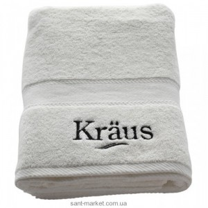 Kraus APOLLO Банное белое махровое полотенце