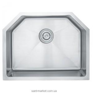Мойка для кухни асимметричная (нестандартная) Kraus под столешницу, нержавеющая сталь, хром KHU-122-23