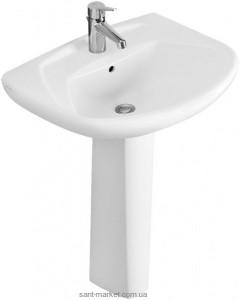 Раковина для ванной на пьедестал Villeroy & Boch коллекция Omnia classic белая 71225301
