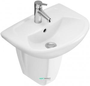 Раковина для ванной подвесная Villeroy & Boch коллекция Omnia classic белая 73264601