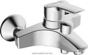 Смеситель однорычажный для ванны с коротким изливом Hansa коллекция Polo хром 51442173
