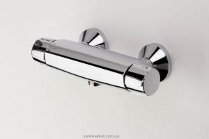 Смеситель для душа настенный двухвентильный с термостатом Oras коллекция Nova хром 7470X