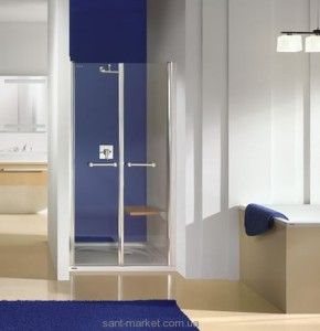 Душевая дверь в нишу SANPLAST PRESTIGE II стеклянная распашная 90х185 DD-PRII/EX-90-S MC