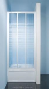 Душевая дверь в нишу SANPLAST Classic стеклянная раздвижная на роликах 120х185 DTr-c-110
