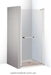 Душевая дверь в нишу SANPLAST PRESTIGE II стеклянная распашная 80х185 DJP-PRII/EX-80-S MC